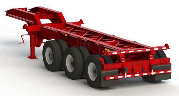 Tri axle chassis
