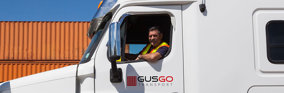 Gusgo Transport truck and containers